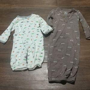 4/$25 Baby sleep sack pajamas 3 months neutral